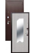 Дверь Входная Ампир Медь Белый Ясень