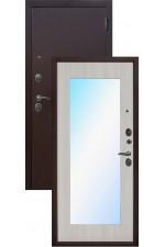 Дверь Входная Царское зеркало Maxi Медь Белый Ясень
