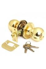 Ручка дверная ТИТАН 706-00 РВ Золото с ключом