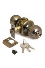 Ручка дверная ТИТАН 706-00 AB Бронза с ключом