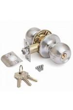 Ручка дверная ТИТАН 706-00 CP Хром с ключом